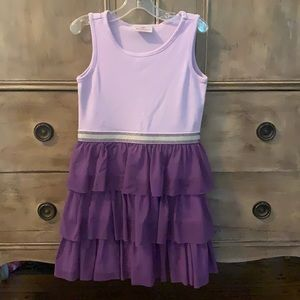 Hanna andersson purple tulle tank dress